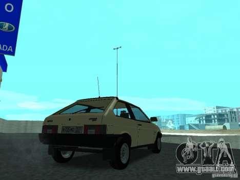 VAZ 2108 CR v. 2 for GTA San Andreas back left view