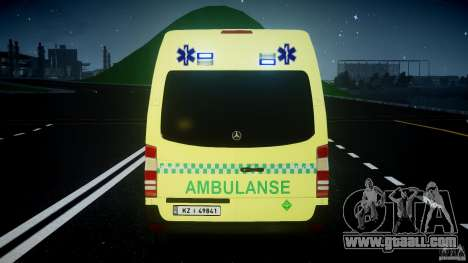 Mercedes-Benz Sprinter PK731 Ambulance [ELS] for GTA 4 wheels