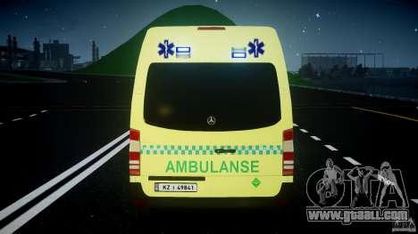 Mercedes-Benz Sprinter PK731 Ambulance [ELS] for GTA 4 wheels