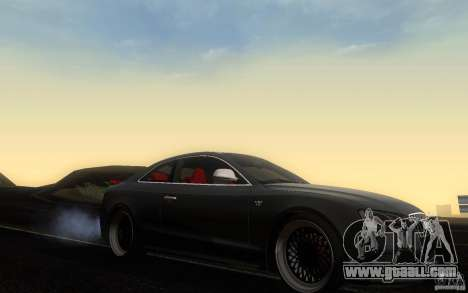 Audi S5 Black Edition for GTA San Andreas inner view