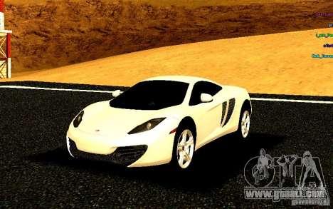 McLaren MP4-12C 2011 for GTA San Andreas