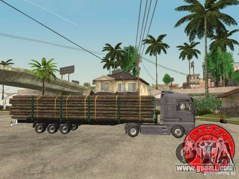 The trailer KRONE timber carrier for GTA San Andreas left view