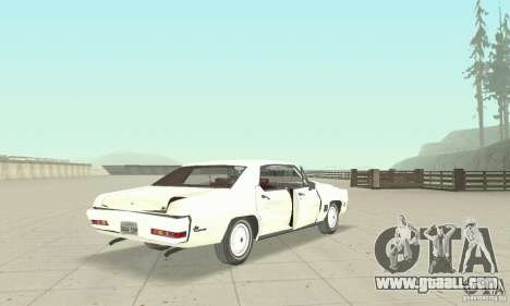 Pontiac LeMans 1971 for GTA San Andreas side view