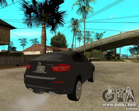 BMW X6 M for GTA San Andreas back left view