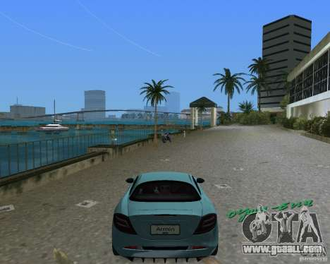 Mercedess Benz SLR Maclaren for GTA Vice City right view