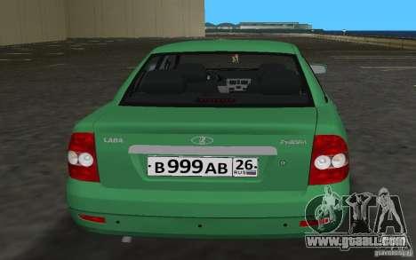 Lada 2170 Priora for GTA Vice City inner view