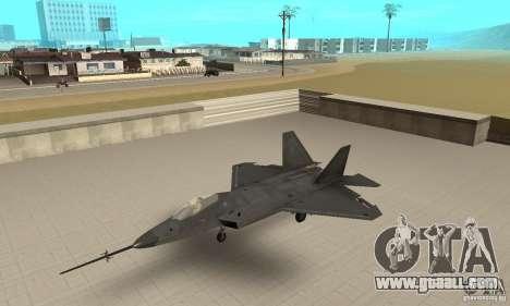 YF-22 Black for GTA San Andreas