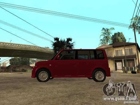 Toyota BB for GTA San Andreas left view