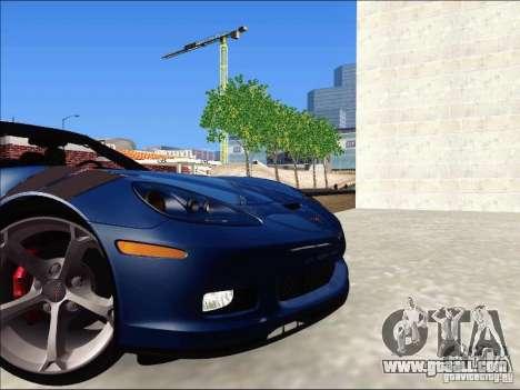 Chevrolet Corvette Grand Sport Cabrio 2010 for GTA San Andreas back view