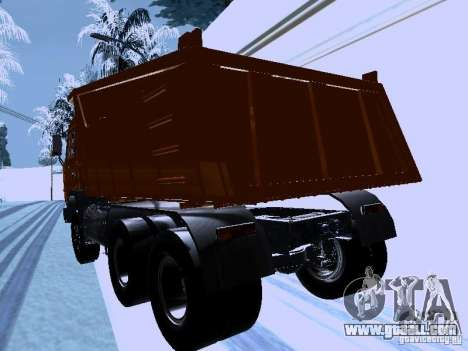 KAMAZ 54115 Truck for GTA San Andreas back left view