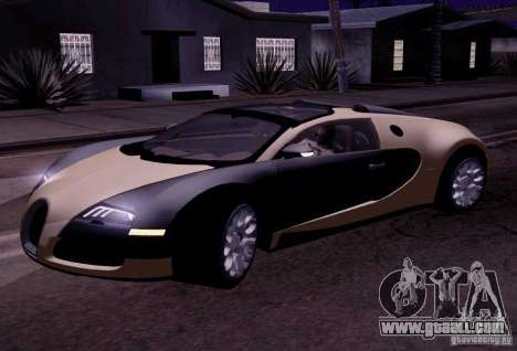 Bugatti Veyron Grand Sport Classic Final for GTA San Andreas left view