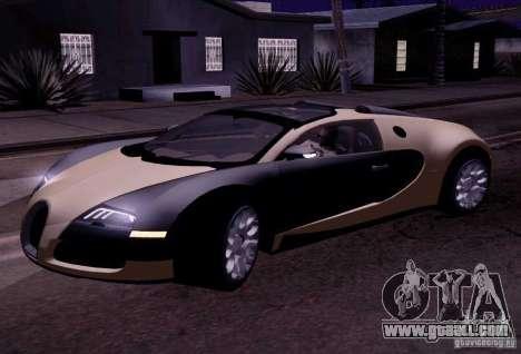 Bugatti Veyron Grand Sport Classic Final for GTA San Andreas left view