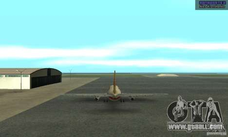 Boeing 737-100 for GTA San Andreas back left view