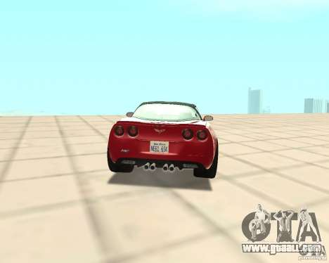 Chevrolet Corvette ZR1 for GTA San Andreas back left view