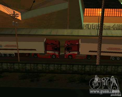 Scania TopLine for GTA San Andreas inner view