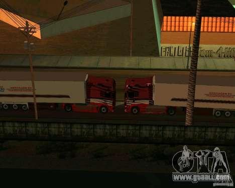 Scania TopLine for GTA San Andreas inner view