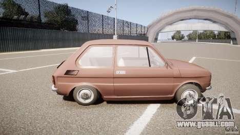 Fiat 126 for GTA 4 inner view