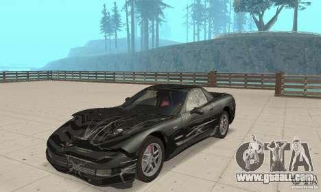 Chevrolet Corvette 5 for GTA San Andreas side view