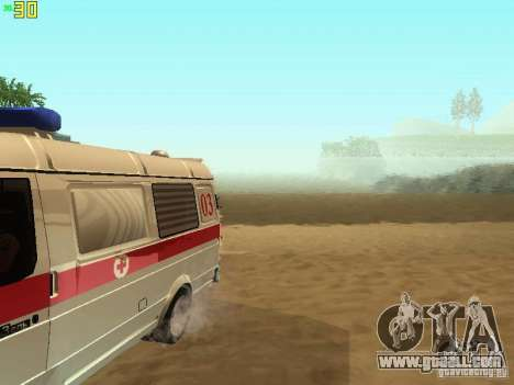 Gazelle 32214 Ambulance for GTA San Andreas inner view