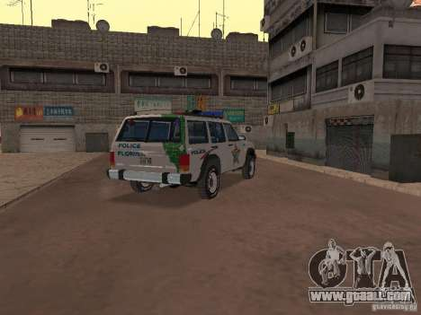 Jeep Cherokee Police 1988 for GTA San Andreas right view