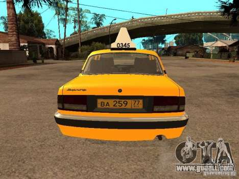 Gaz-31105 Volga Taxi for GTA San Andreas interior