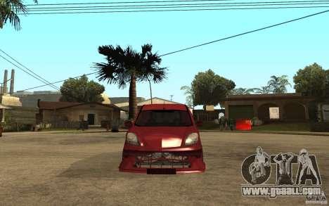 Renault Kangoo Tuning for GTA San Andreas right view