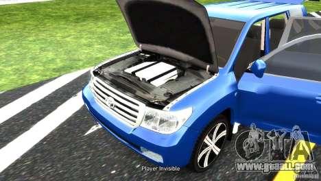 Toyota Land Cruiser 200 RESTALE for GTA 4 upper view