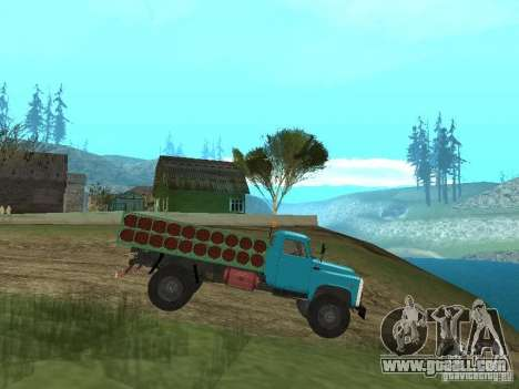 Gaz-53 ballonovoz for GTA San Andreas left view