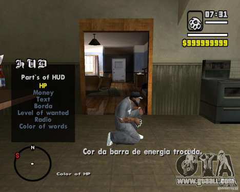 Change Hud Colors for GTA San Andreas third screenshot