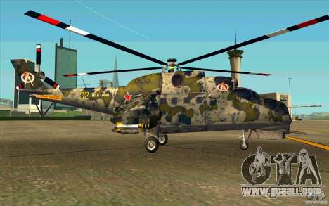 Mi-24 for GTA San Andreas back left view