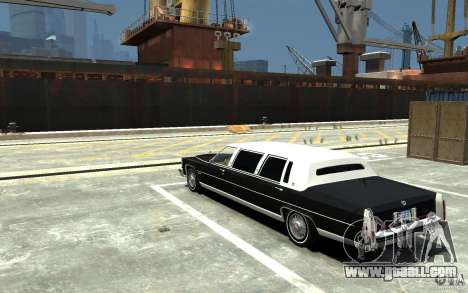 Cadillac Fleetwood Limousine 1985 [Final] for GTA 4 back left view