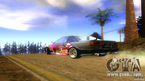 Toyota AE86 Coupe - Final for GTA San Andreas left view