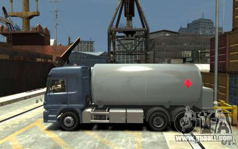 Mercedes Benz Actros Gas Tanker for GTA 4 left view