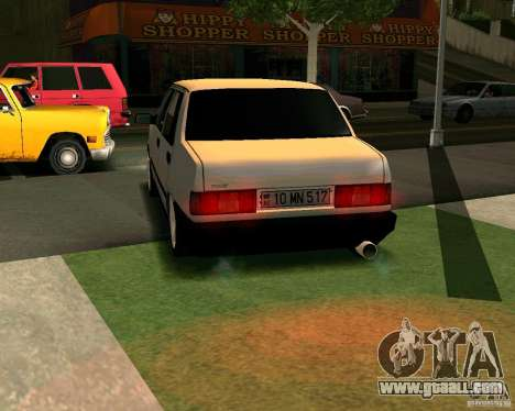 Tofas Dogan Azerbaycan for GTA San Andreas back left view