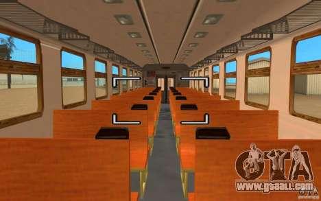Train ER2-K-1321 for GTA San Andreas back left view