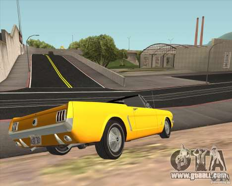 Ford Mustang 289 1964 for GTA San Andreas back view