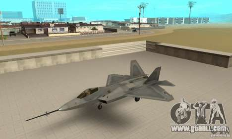 YF-22 Grey for GTA San Andreas
