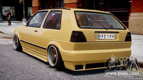 Volkswagen Golf MK2 Tuning for GTA 4 right view