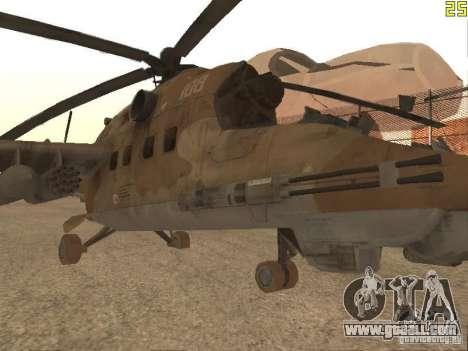 Mi-24 p Desert Camo for GTA San Andreas left view