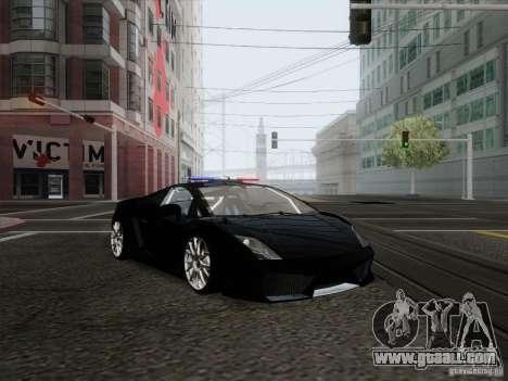 Lamborghini Gallardo LP-560 Police for GTA San Andreas back left view