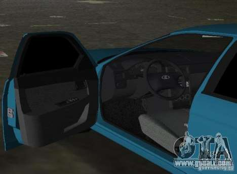 Lada Priora Hatchback for GTA Vice City back view