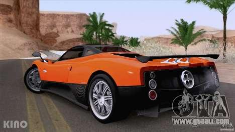 Pagani Zonda F for GTA San Andreas inner view