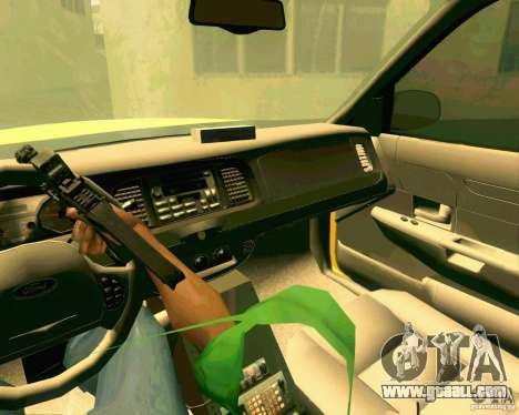 Ford Crown Victoria 2003 NYC TAXI for GTA San Andreas inner view