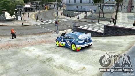 Subaru Impreza WRX STI Rallycross SHOEL Vinyl for GTA 4 left view