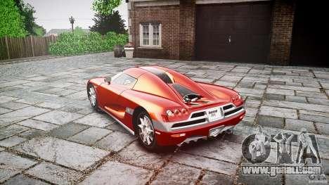 Koenigsegg CCX v1.1 for GTA 4 inner view