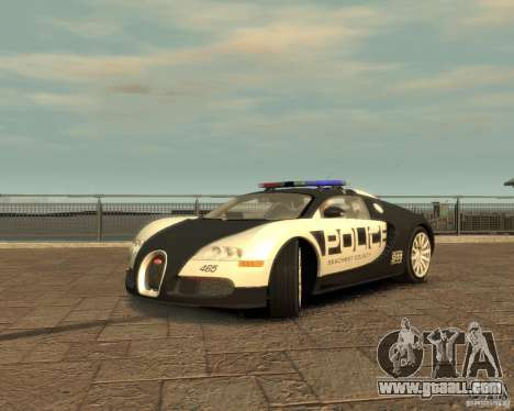 Bugatti Veyron Police [EPM] for GTA 4 right view
