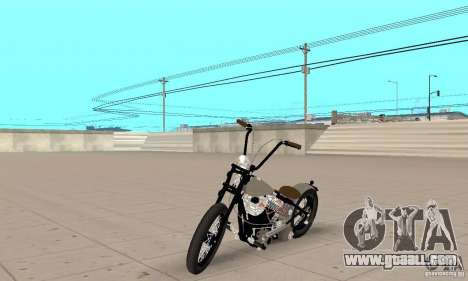 HD Shovelhead Chopper v2.1-chrome for GTA San Andreas