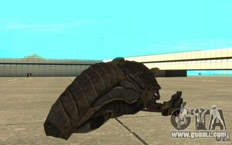 Starship Predator from the game Aliens vs Predat for GTA San Andreas left view