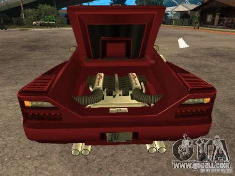 HD Cheetah for GTA San Andreas back view