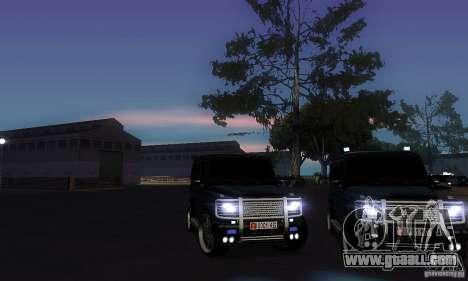 Mercedes Benz G500 ART FBI for GTA San Andreas side view